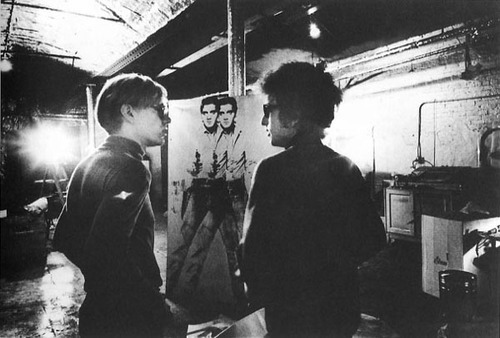 Andy Warhol et Bob Dylan
